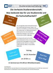 Vortrag Verfasste Studierendenschaft