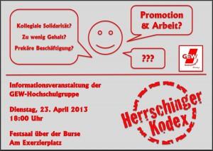 Informationsveranstaltung 2013 GEW HSG